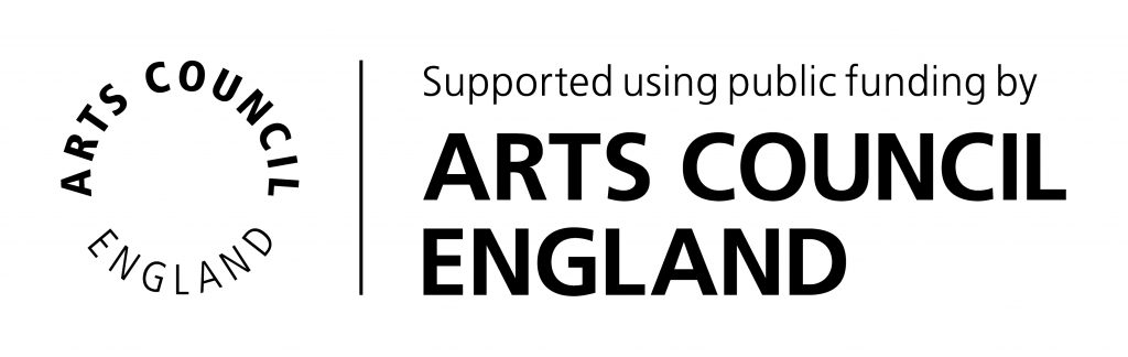 Logo: supported by Arts Council England